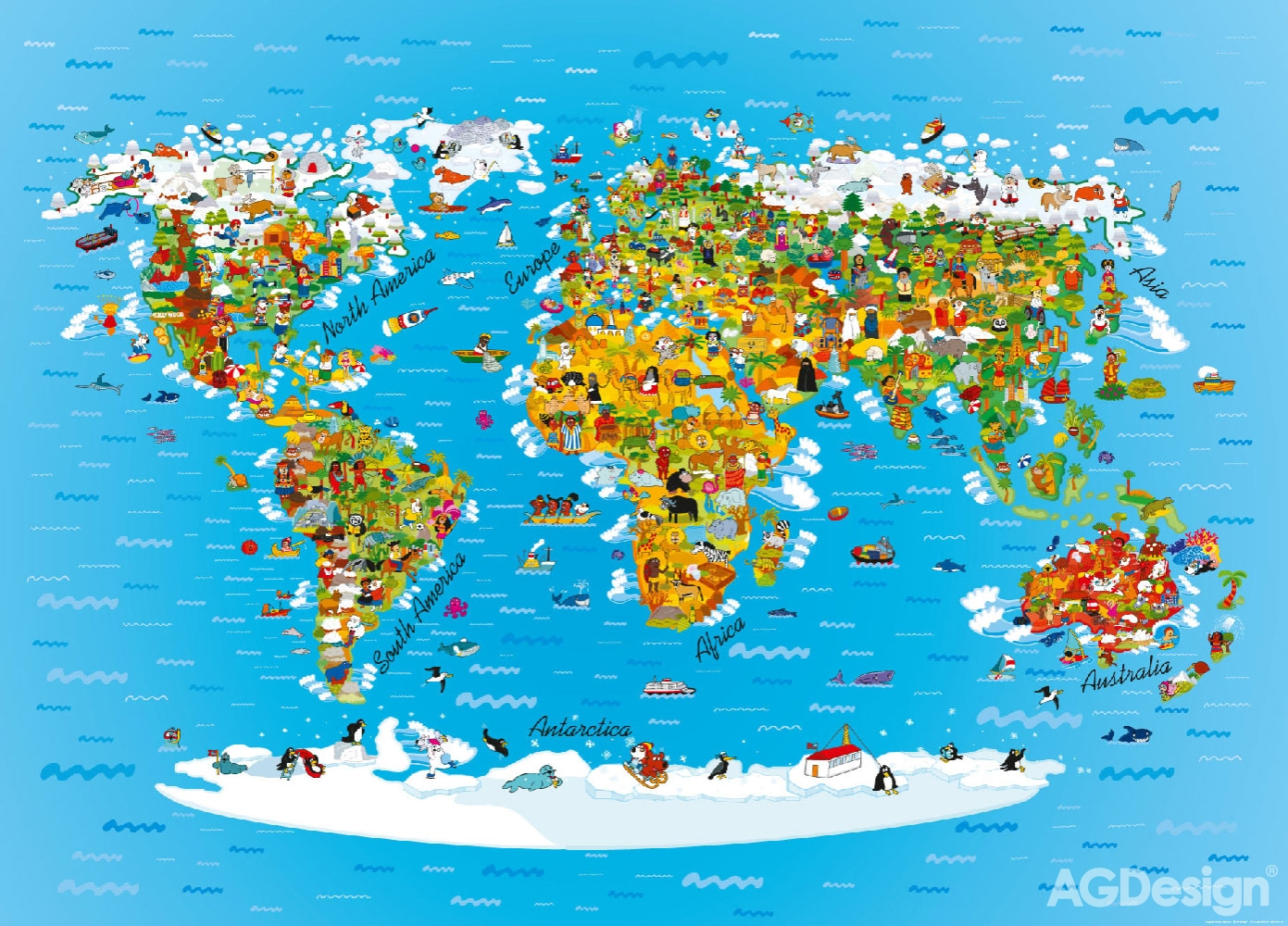 mapa sveta poster Plakát vliesový mapa světa   Plakáty pro děti Maxi Poster Premium  mapa sveta poster